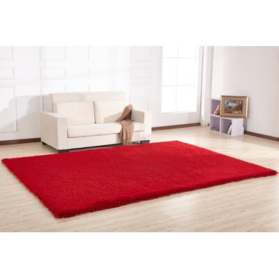 Stenger Hand Tufted Red Area Rug