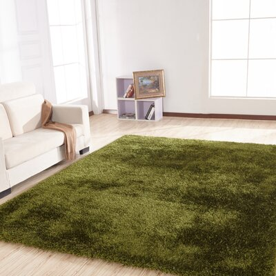 Stenger Hand Tufted Green Area Rug