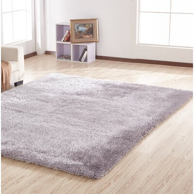 Stenger Hand Tufted Silver Area Rug
