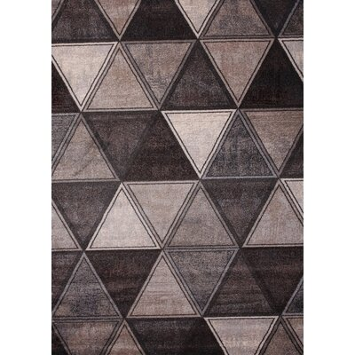 Leong Modern Rectangle Ivory Area Rug