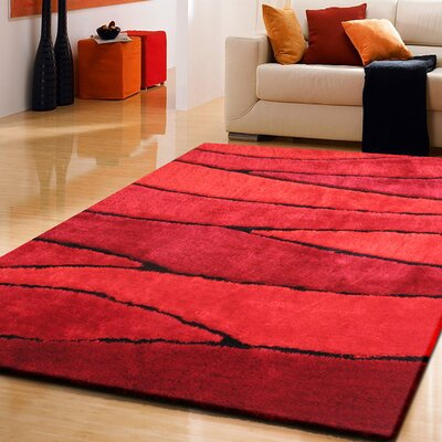 Quintanar Hand-Tufted Red Area Rug