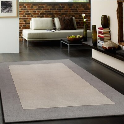 Payeur Transitional Hand Woven�Solid Beige Indoor Area Rug