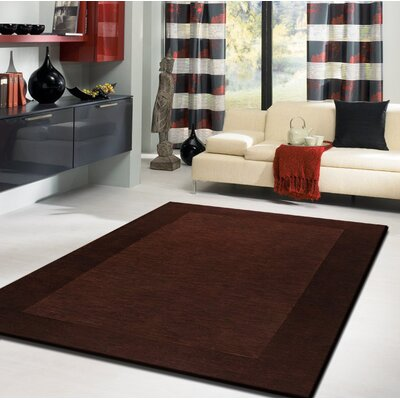 Payeur�Transitional Hand Woven Solid Brown Indoor Area Rug