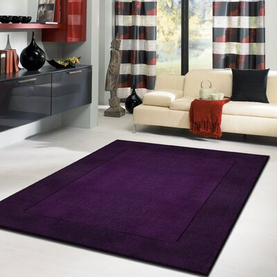 Payeur�Transitional Hand Woven Solid Blue/Violet Indoor Area Rug