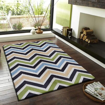 Payeur Transitional Hand Woven Green Indoor Area Rug