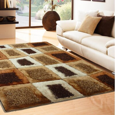 Talty Shag Hand-Tufted Brown Indoor Area Rug