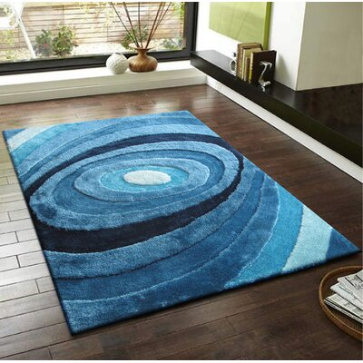 Shippee Hand-Tufted Turquoise Indoor Area Rug