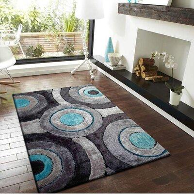 Shubrick Hand-Tufted Gray/Black Indoor Area Rug