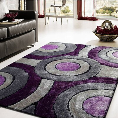 Shuttleworth Hand-Tufted Gray/Purple Indoor Area Rug
