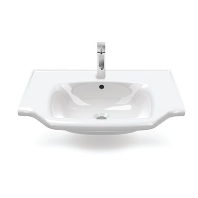 Yeni Klasik Ceramic 26 Wall Mounted Bathroom Sink with Overflow