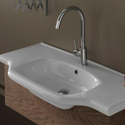 Yeni Klasik Ceramic Rectangular Drop-In Bathroom Sink with Overflow