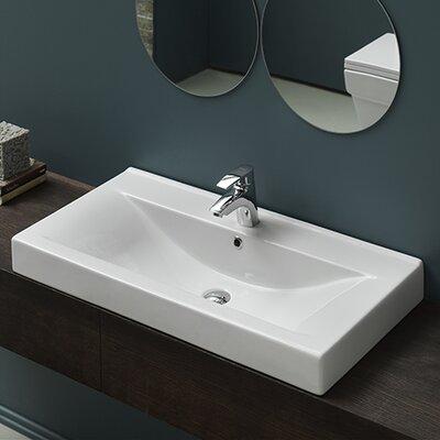 Mona Ceramic Rimming Bathroom Sink