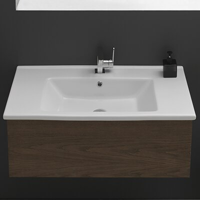 Arte Ceramic Self Rimming Bathroom Sink