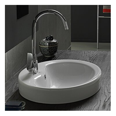 Suit Ceramic Rectangular Vessel Bathroom Sink with Overflow