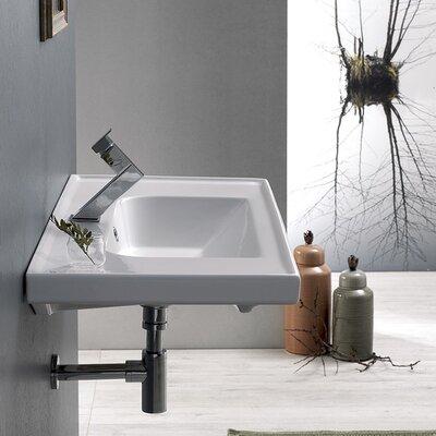 Frame Ceramic 32 Wall Mounted Bathroom Sink Faucet Mount: Single Hole