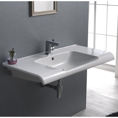 Anova Ceramic Rectangular Drop-In Bathroom Sink with Overflow Faucet Mount: 3 Hole