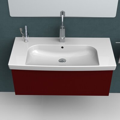Roma Ceramic Rectangular Drop-In Bathroom Sink with Overflow Faucet Mount: 3 Hole