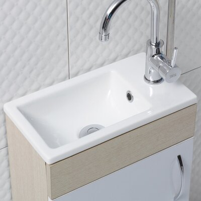 Mini Ceramic Self Rimming Bathroom Sink