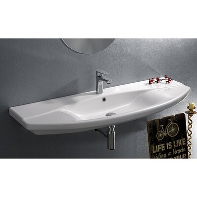 Bed Bath-Focus 55.51 Rectangle Ceramic Wall Mounted or Self Rimming Sink