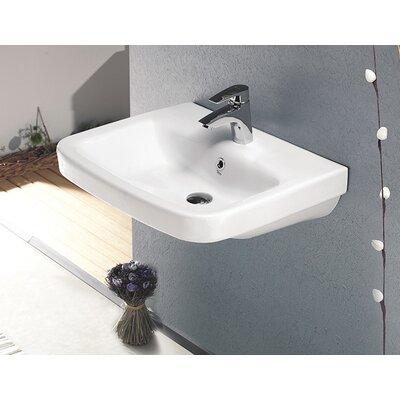 Noura Plus Ceramic Rectangular Drop-In Bathroom Sink with Overflow
