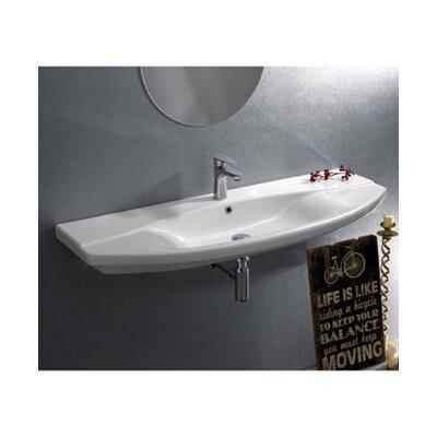 Focus Ceramic Rectangular Drop-In Bathroom Sink with Overflow Faucet Mount: 3 Hole