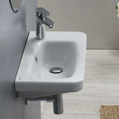 Noura Ceramic Rectangular Drop-In Bathroom Sink with Overflow