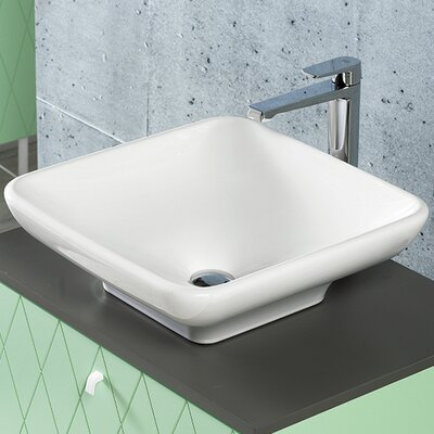 Lal Ceramic Rectangular�Vessel�Bathroom�Sink with Overflow