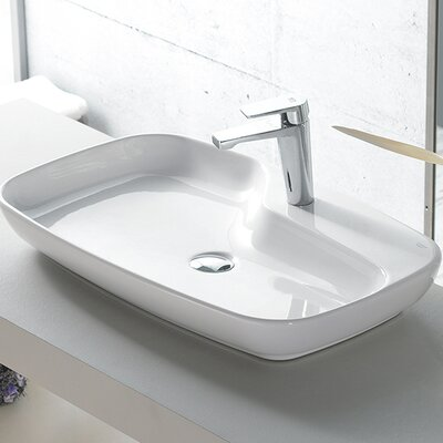 Nova Ceramic Rectangular�Vessel�Bathroom�Sink with Overflow