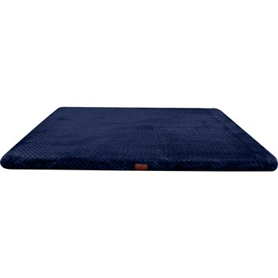 Memory Foam Dog Bed with Non-Skid Bottom Color: Navy