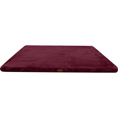 Memory Foam Dog Bed with Non-Skid Bottom Color: Burgundy