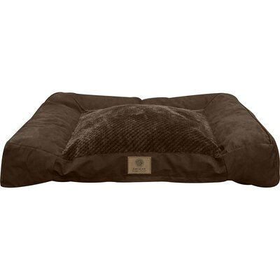 Memory Foam Dog Bed Color: Brown
