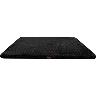 Memory Foam Dog Bed with Non-Skid Bottom Color: Black