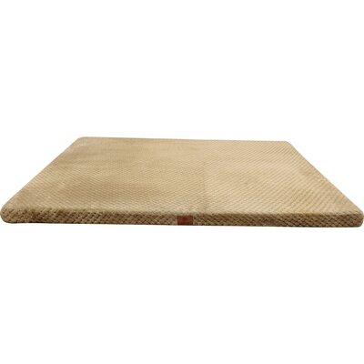 Memory Foam Dog Bed With Non-skid Bottom Color: Taupe