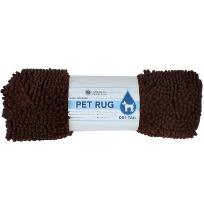 Dri-Tail Ultra Absorbent Chenille Pet Mat Size: Medium (20L x 32W), Color: Brown