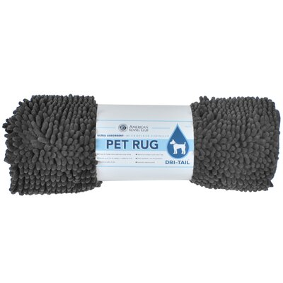 Dri-Tail Ultra Absorbent Chenille Pet Mat Size: Medium (20L x 32W), Color: Gray
