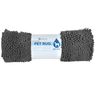 Dri-Tail Ultra Absorbent Chenille Pet Mat Size: Large (26L x 36W), Color: Gray