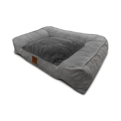 Memory Foam Dog Sofa Color: Gray