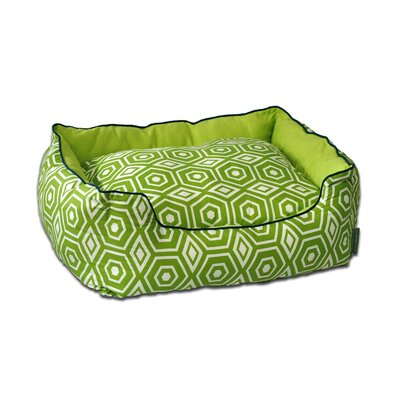 Honeycomb Couch Pet Bed Size: Medium (24 L x 28 W), Color: Lime