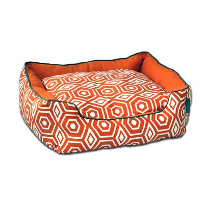 Honeycomb Couch Pet Bed Size: Medium (24 L x 28 W), Color: Tangerine