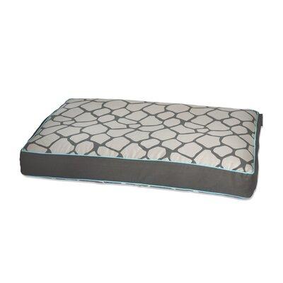 Giraffe Memory Foam Topper Pet Bed Size: Medium (36 L x 27 W), Color: Gray