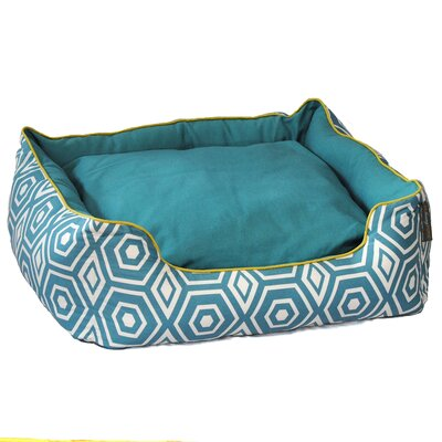Honeycomb Couch Pet Bed Size: Medium (24 L x 28 W), Color: Turquoise