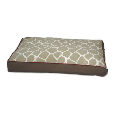 Giraffe Memory Foam Topper Pet Bed Color: Khaki, Size: Large (40 L x 29 W)