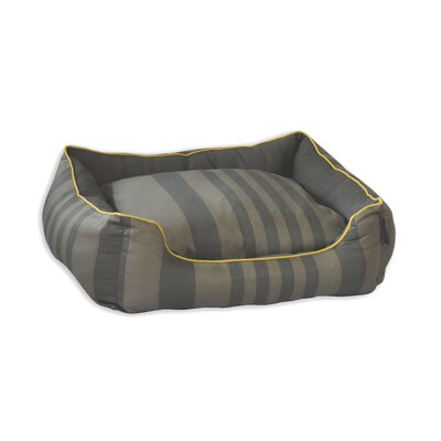 Tonal Stripe Couch Pet Bed Size: Small