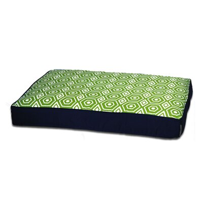 Honeycomb Memory Foam Topper Pet Pillow Bed Size: Medium (36 L x 27 W), Color: Lime