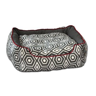 Honeycomb Couch Pet Bed Color: Turquoise, Size: Small (24 L x 21 W)
