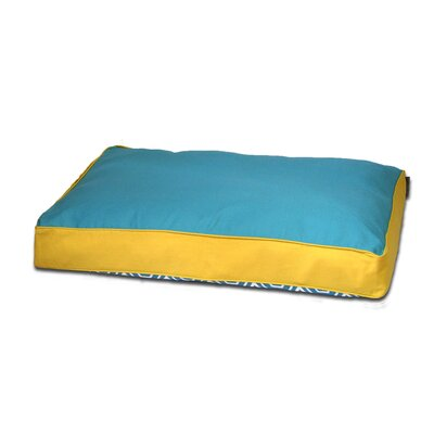 Honeycomb Memory Foam Topper Pet Pillow Bed Size: Large (40 L x 29 W), Color: Turquoise