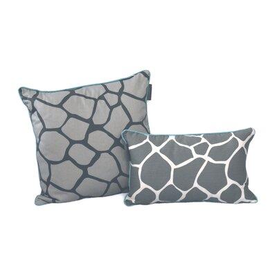 Giraffe Decorative Cotton Throw Pillow Size: 12 H x 20 W x 3.5 D, Color: Gray