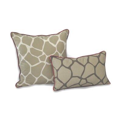 Giraffe Decorative Cotton Throw Pillow Size: 20 H x 20 W x 3.5 D, Color: Khaki