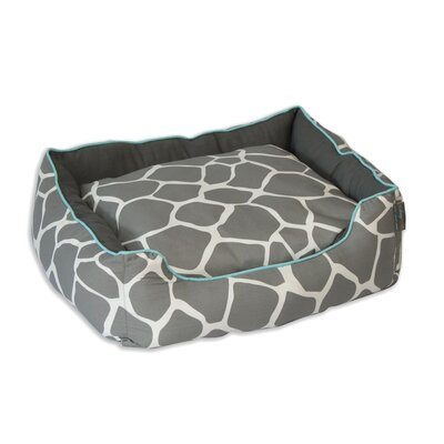 Giraffe Couch Pet Bed Size: Medium (24 L x 28 W), Color: Gray on Cream