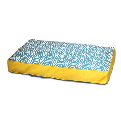 Honeycomb Memory Foam Topper Pet Pillow Bed Size: Medium (36 L x 27 W), Color: Turquoise